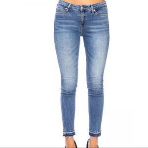 Jeans Raw Hem Denim Skinny Pants Calvin Klein 10